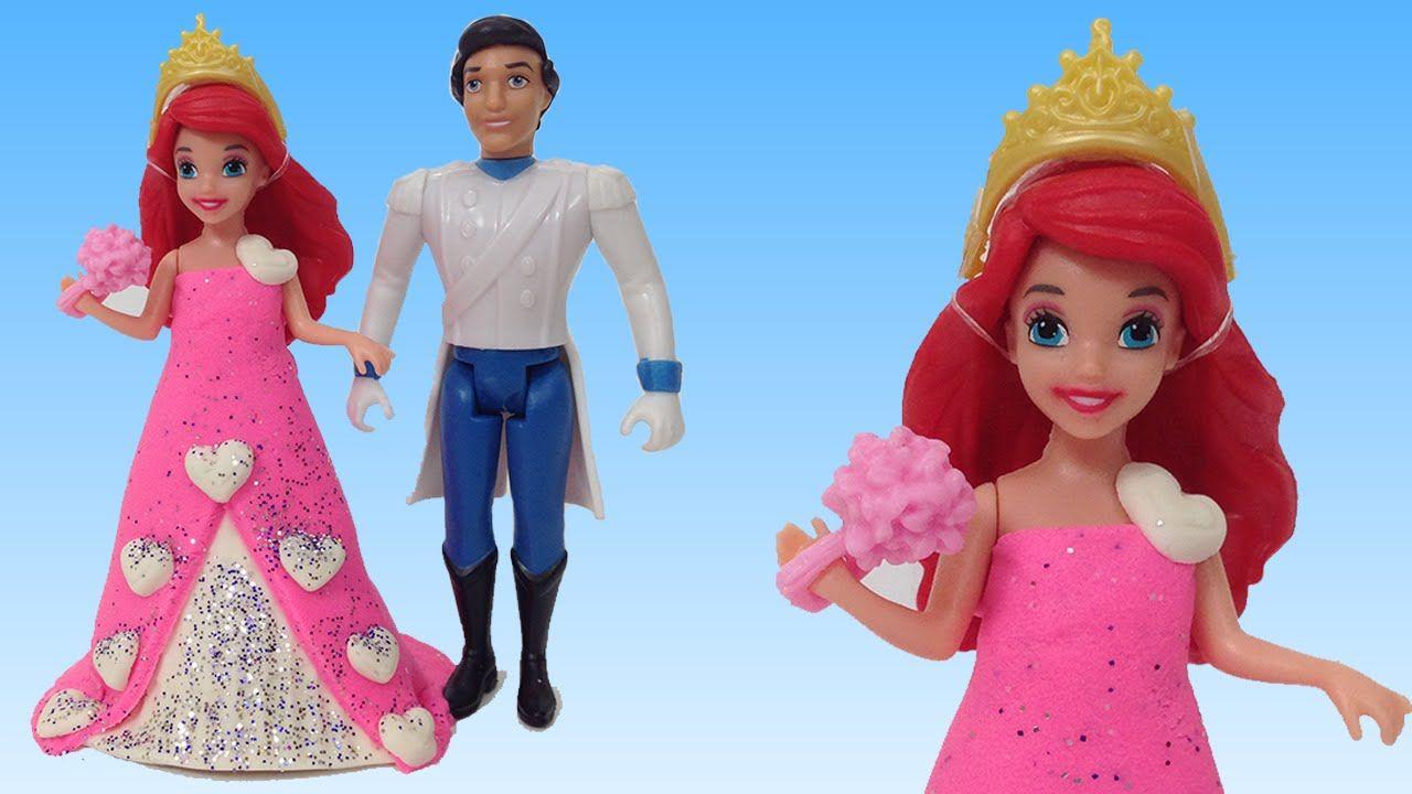Oyun Hamuru Disney Prenses Ariel Prens Eric Oyuncak Seti Gelinlik Tasarimi Disney Prensesleri Disney Oyun Hamuru