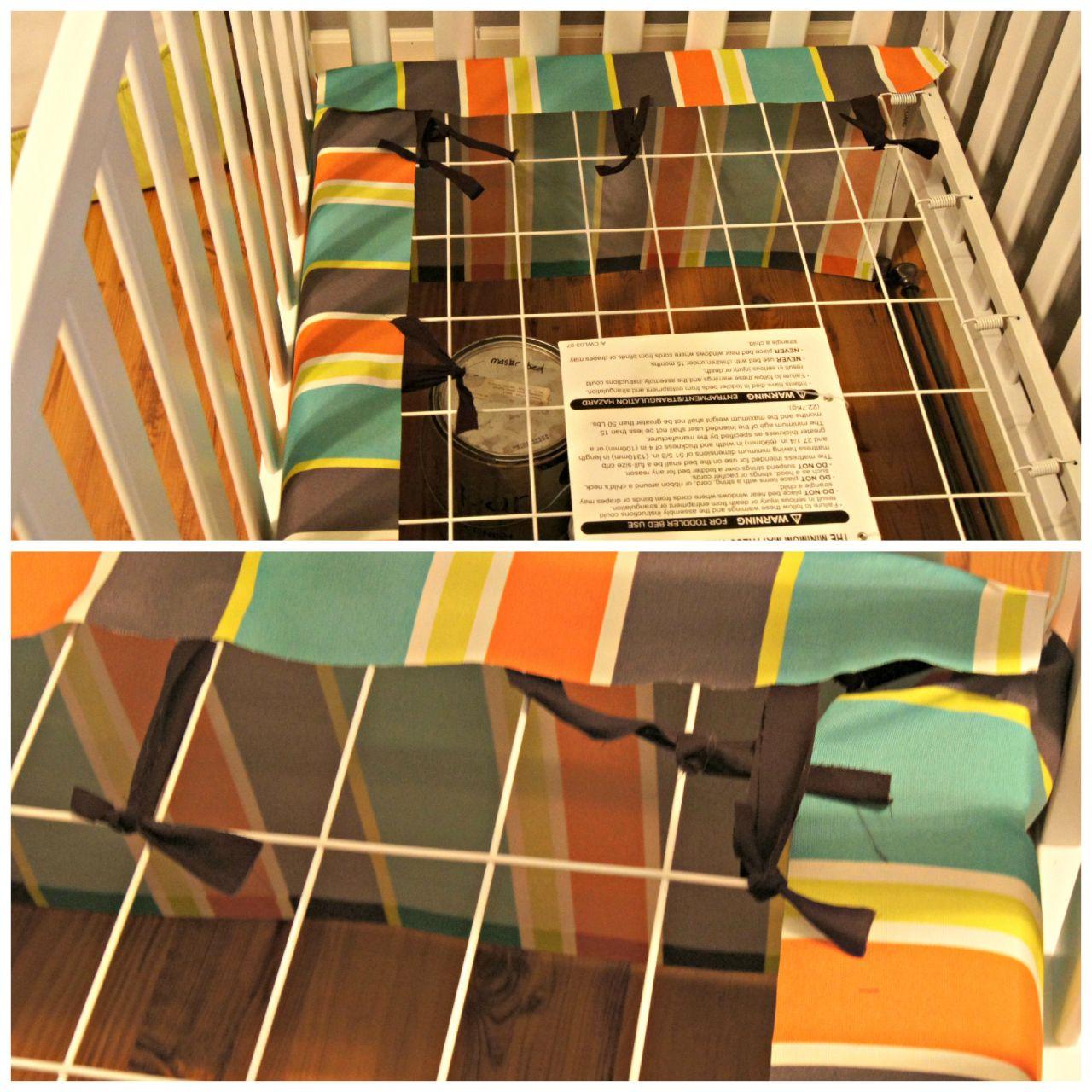 The Easiest DIY Crib Skirt, EVER   Baby!!   Diy crib, Crib ...