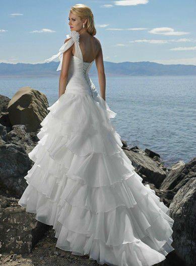 Beach Wedding Dresses One Shoulder