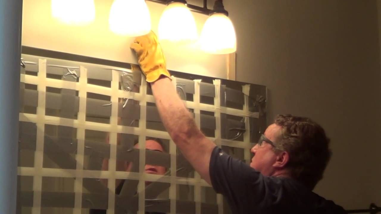 How To Remove A Glued Bathroom Mirror From The Wall Bathroom Mirrors Diy Bathroom Mirror Redo Diy Bathroom