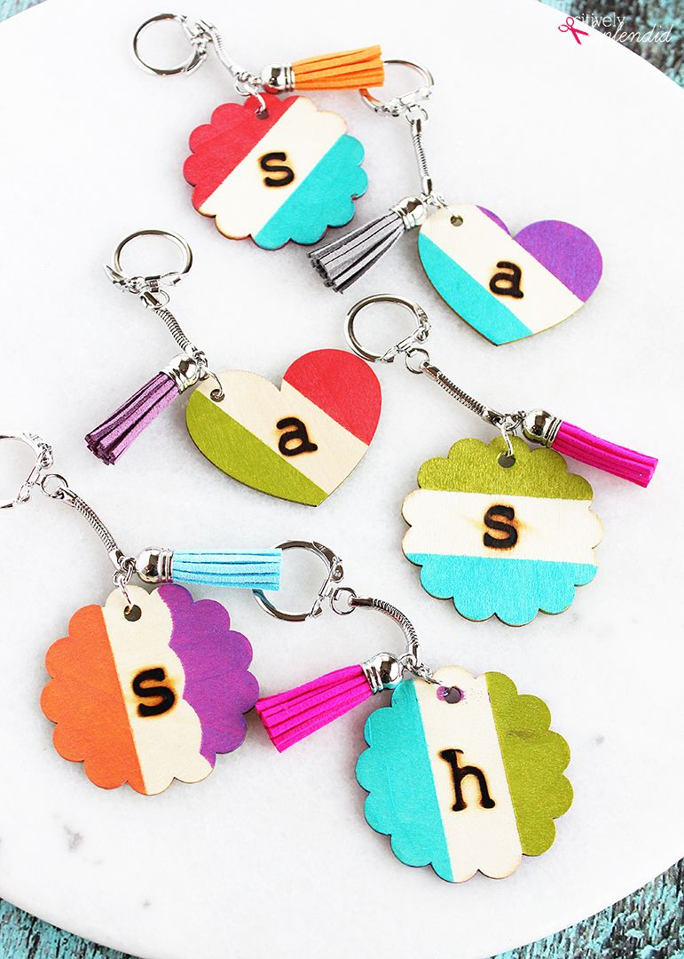 Wood Burned Monogrammed Wooden Keychain Tutorial Create With Amy