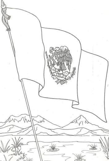 bandera de mexico para pintar | ESCOLAR | Pinterest | Mexico ...
