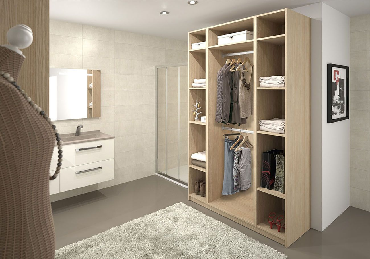 Salle De Bain Dressing armoire dressing pour salle de bain. | rangement salle de
