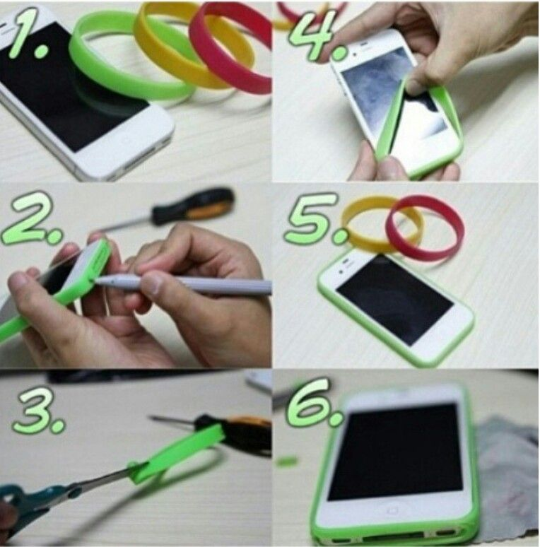 Diy Phone Cover Rubber Band To Save The Edges Diy My