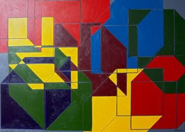 Abstraction of ten entangled boxes - Limited Edition 3 of 10