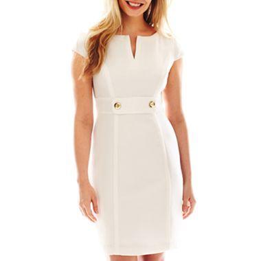 Cap-Sleeve Button Detail Dress - jcpenney | My Style | Pinterest