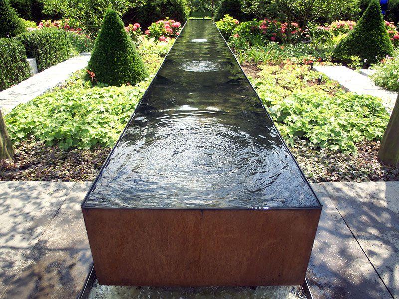 wasserbecken im garten   Garten   Pinterest   Gärten, Wasserlauf ...