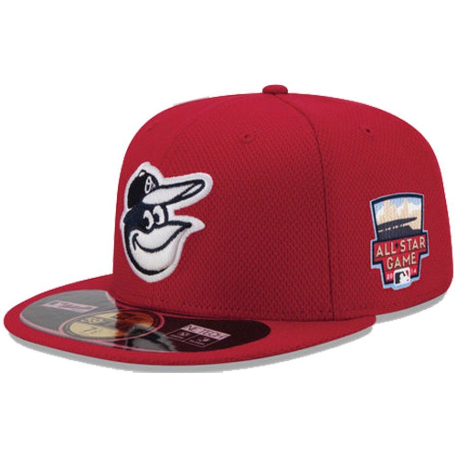 0d369c32c7f Men s Baltimore Orioles New Era Red Authentic Collection Home Run Derby  Diamond Era On-Field 59FIFTY Fitted Hat