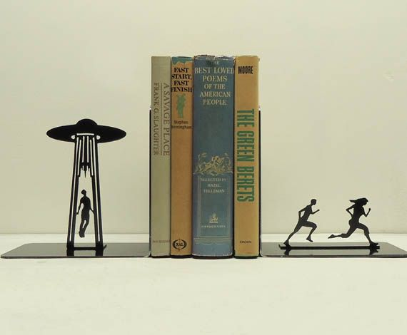 "Another one that could go under ""I Wish I Had Thought of This.""  The closest I had seen to bookends like this were the ""a"" and ""z"" bookends Bob Hartley had on his shelf on The Bob Newhart Show!  Love this!"