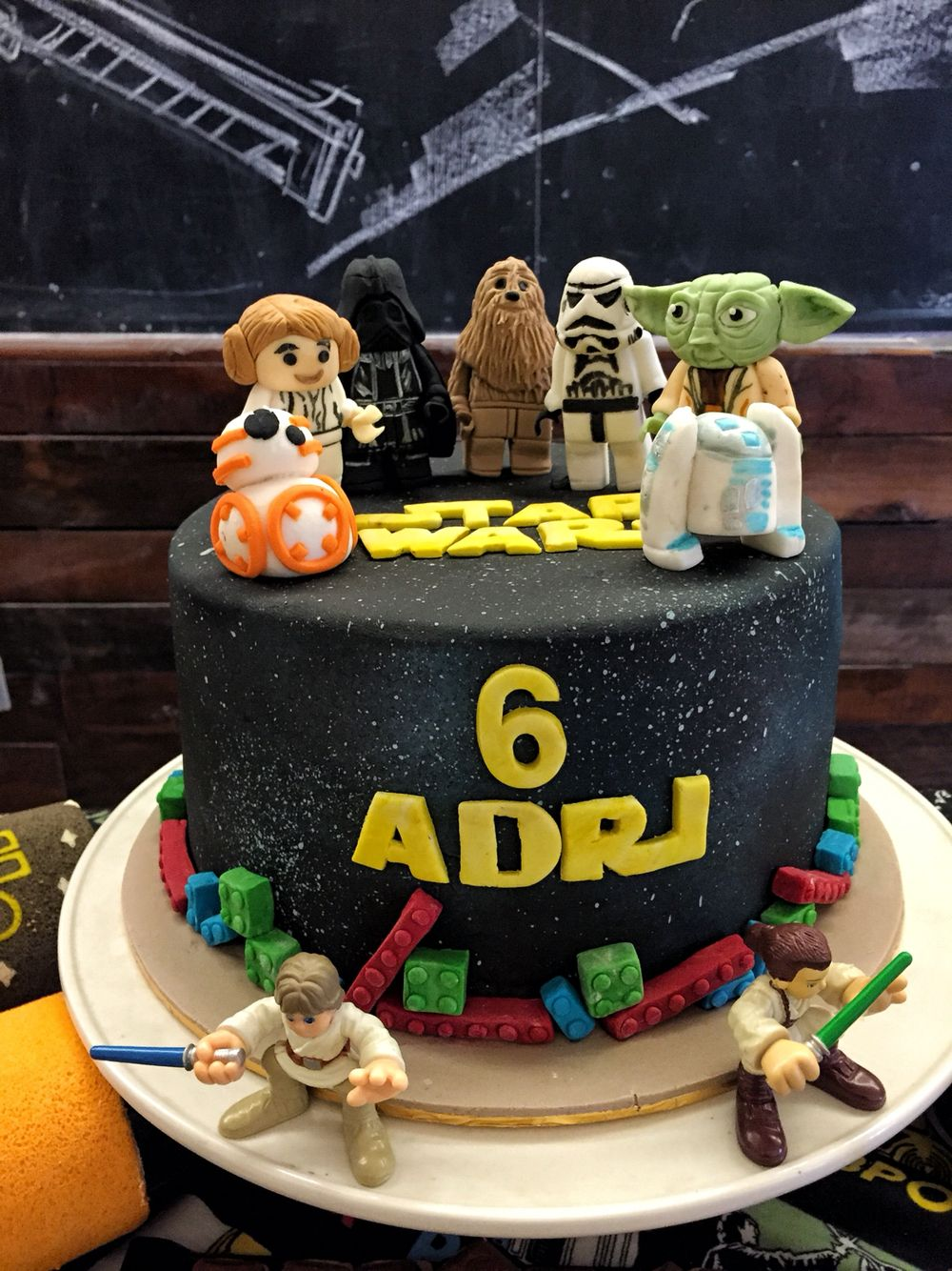 star wars themed party Cake, Dessert table