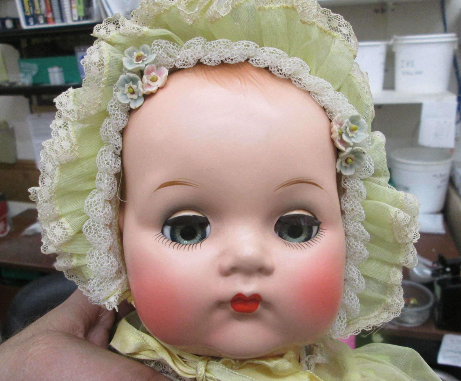 "vintage 1950's madame alexander 20"" baby doll very nice with box no"