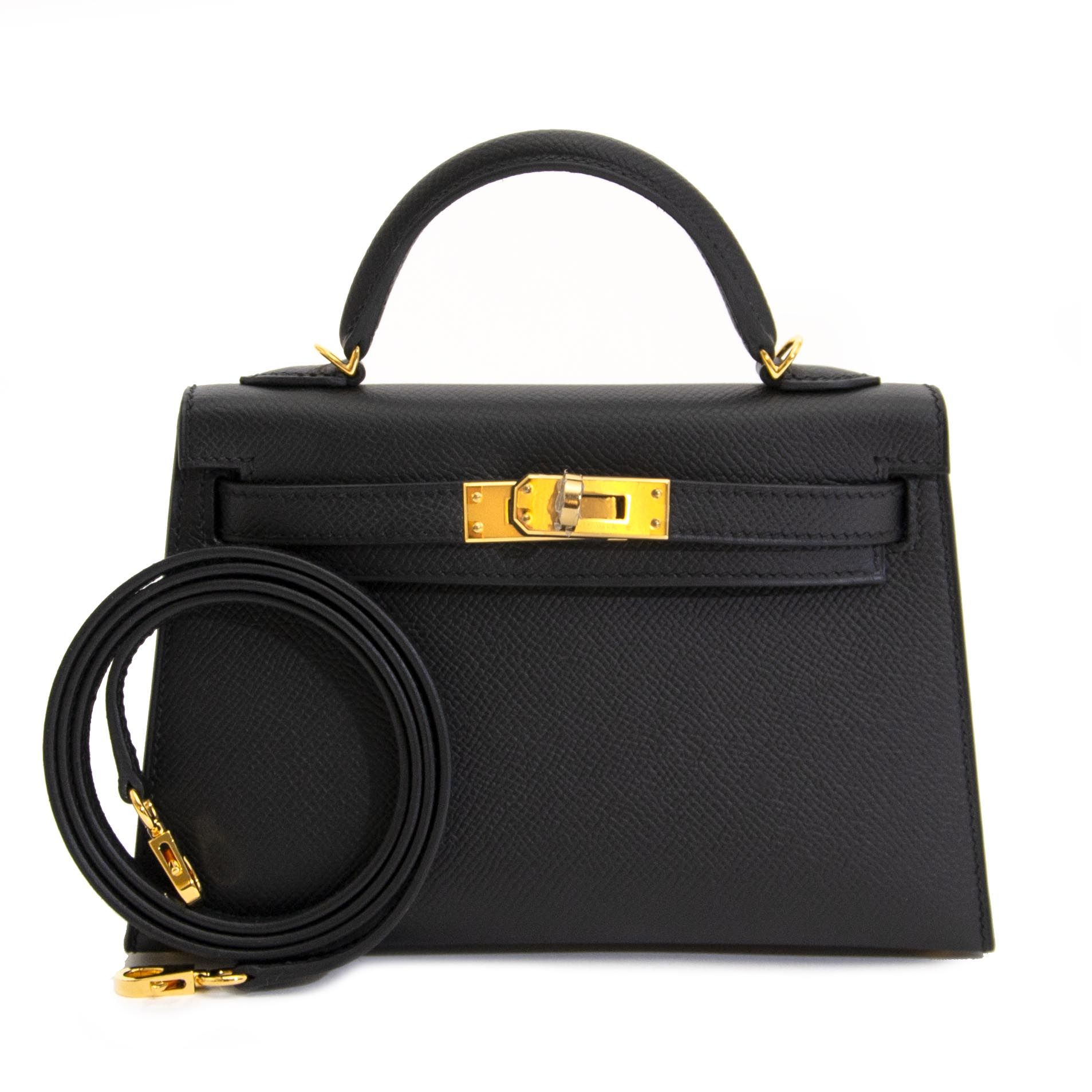 1b22f80ceef2 NEVER USED* Hermes Kelly Mini II 20cm Black Epsom GHW | Shop ...