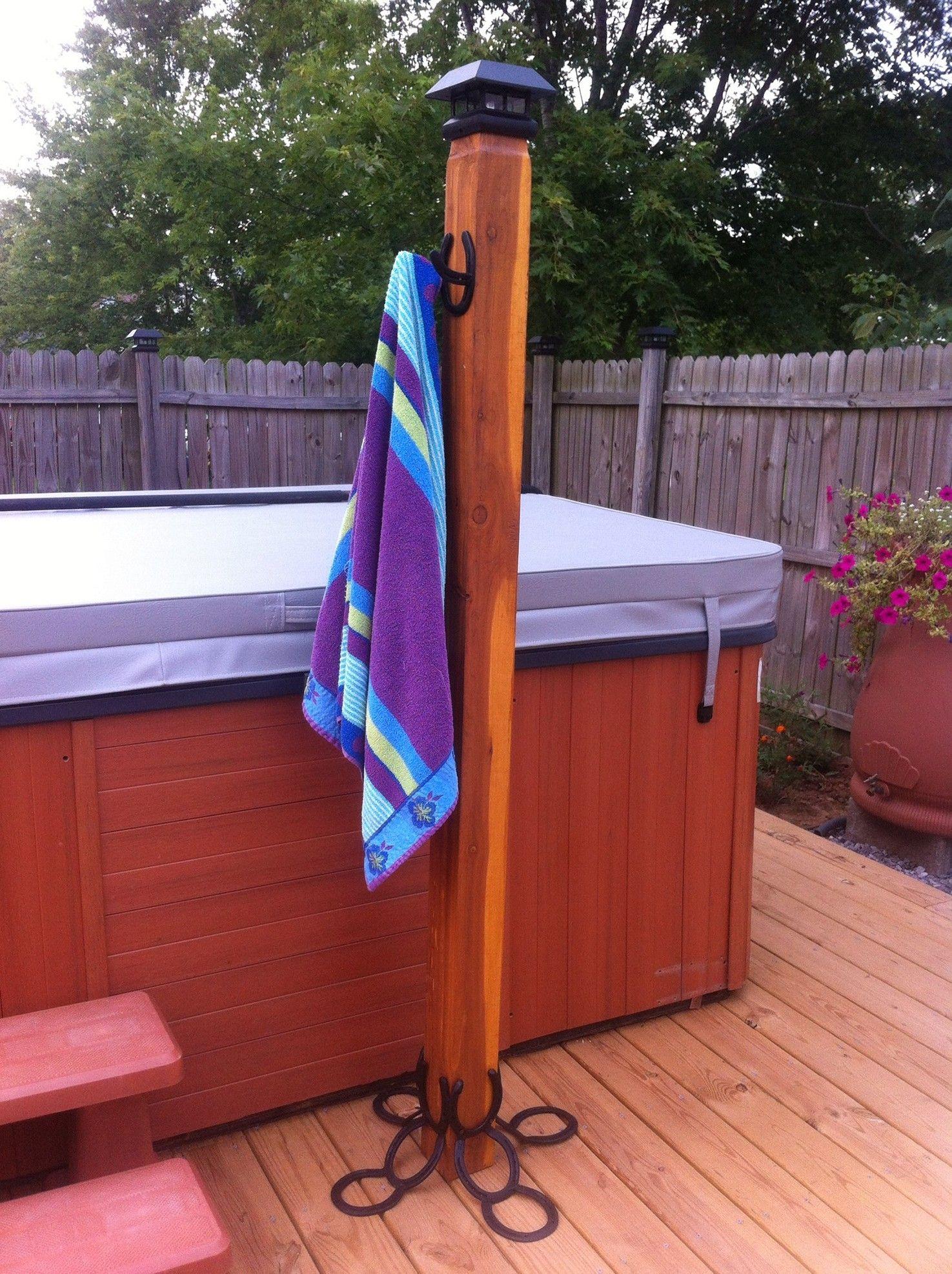 Pallet Towel Rack Pool Hooks