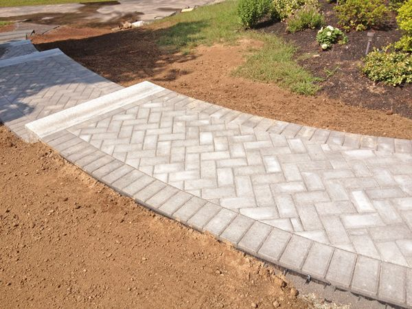 Brick Paver Patio Herringbone Herringbone Brick Walkway | Exterior .