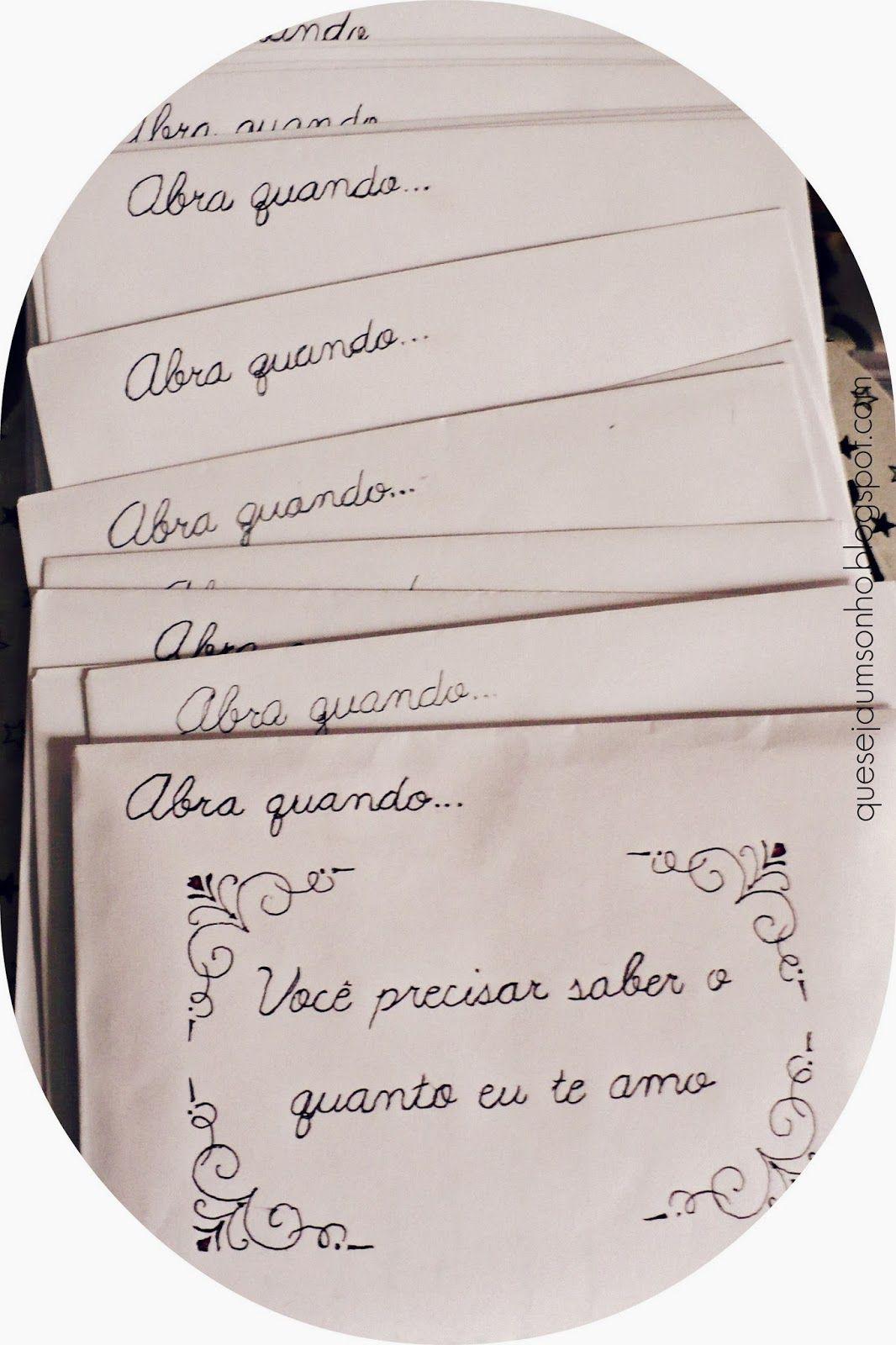 Diy Ideias De Presentes Para Namorados Cartas Abra Quando