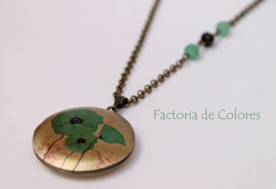 Guardasecretos Amapolas verdes / Factoria de Colores - Artesanio