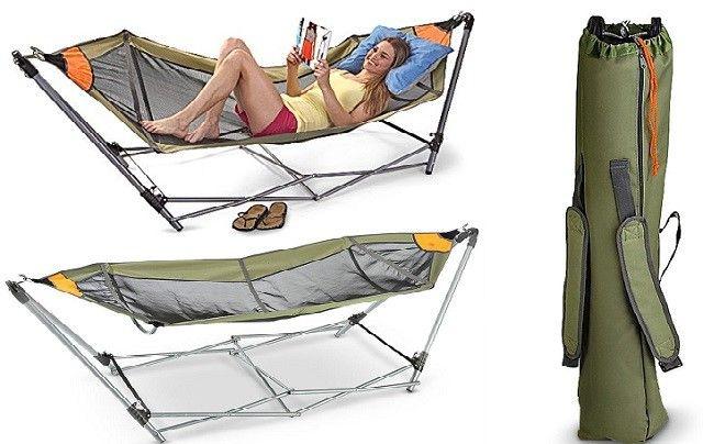 Portable Folding Hammock Camping It Hammock Camping Camping Hacks