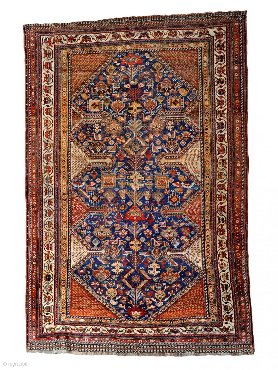 Qashqai Rug 1880 Circa Good Connection No Repair All Natural Colors Size 210x140cm Rugrabbit Com Rugs On Carpet Rugs Tribal Carpets