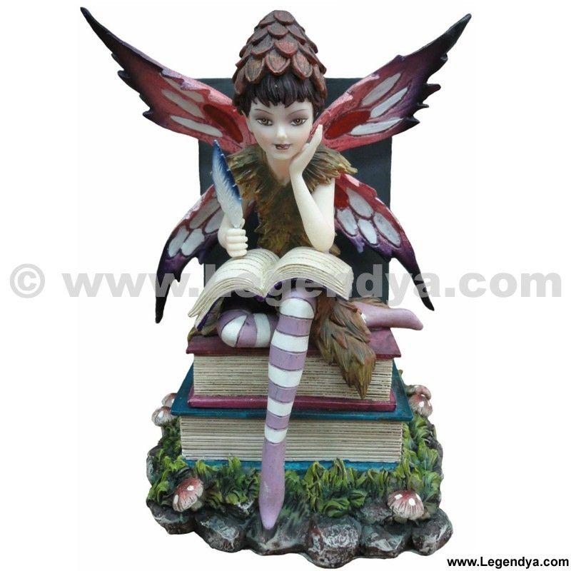 Fee Memorya Serre Livres Statuette Feerique Pinterest