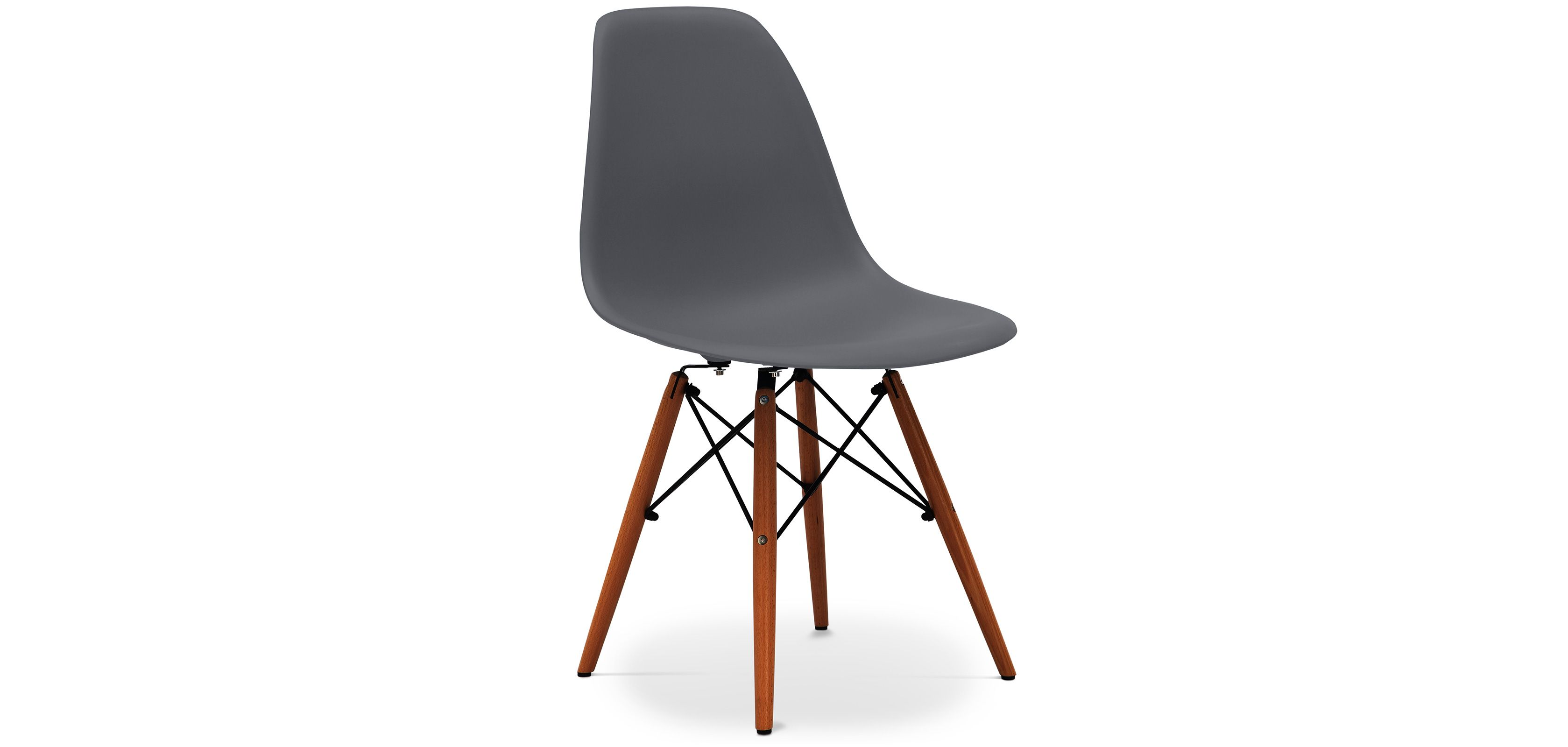 Chaise DSW Pietement Fonce Charles Eames Style