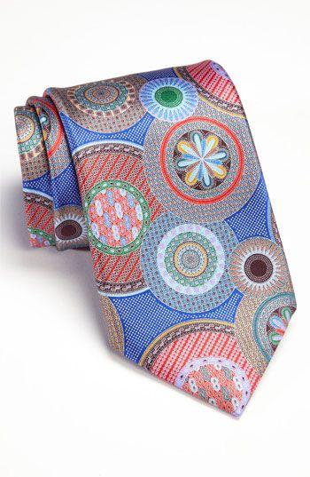70591ede Ermenegildo Zegna 'Quindici' Print Silk Tie- my husband's ...