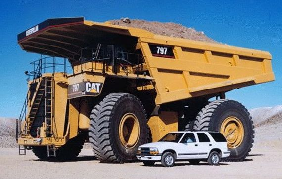 The Cat 797f Costs Around Us5 Millions And Uses Six Tires That Cost