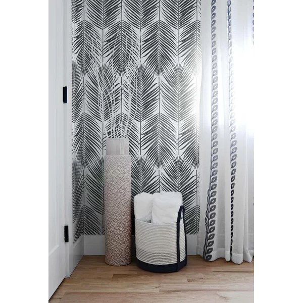 Lipman Paradise Palm 18 L X 20 5 W Peel And Stick Wallpaper Roll Peel And Stick Wallpaper Lining Dresser Drawers Interior Spaces