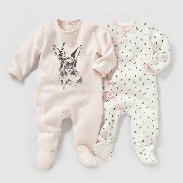 dea69ee621bba Pyjama molleton (lot de 2) 0 mois-3 ans R mini   prix