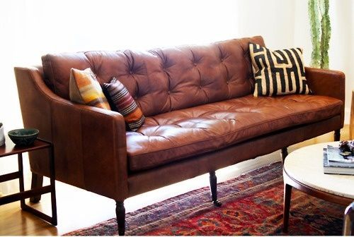 Image Result For Brown Leather Sofa