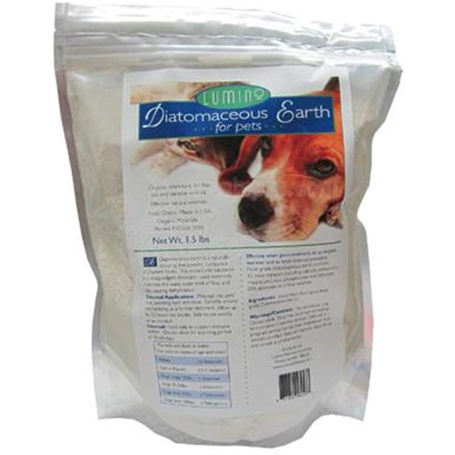 Lumino Organic Diatomaceous Earth For Pets 1.5 lb * Be