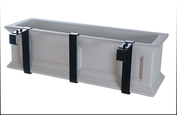 Wonderful Mayne Adjustable Deck Railing Planter Brackets   Mount Any Window Box On A  Railing   Exterior Great Pictures