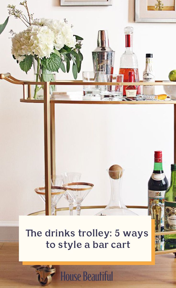 A bar cart is an essential for home entertaining. Previously seen as a relic of the past, the bar cart (also called a drinks trolley or serving cart) has become a fashionable way to display your favourite spirits and glassware, whilst having the functionality of a moving bar. When buying a drinks trolley, choose a size that won't take up too much space in your home, but one that will still enable you to serve in style. (Photo: FTD.com).