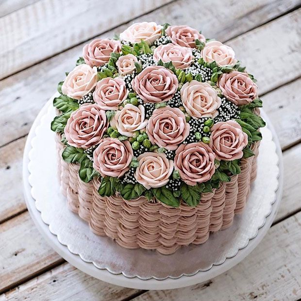 Are These The Most Beautiful Cakes In The World Pretty Birthday Cakes Beautiful Cakes Flower Basket Cake