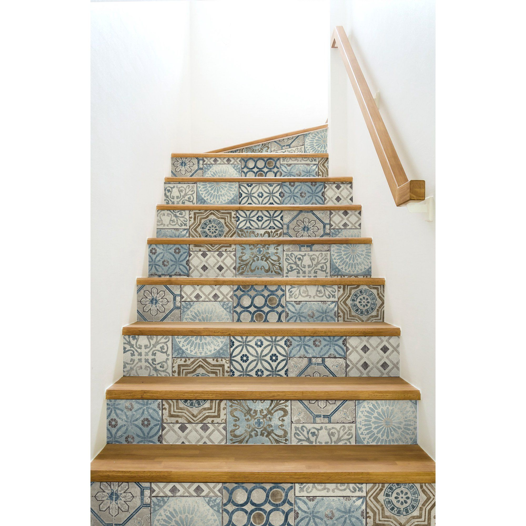 Nextwall Moroccan Style Peel And Stick Nw30002 Mosaic Tile Wallpaper Blue Copper Grey Walmart Com Peel And Stick Wallpaper Textured Wallpaper Moroccan Tile