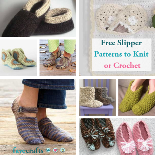 17 Free Slipper Patterns to Knit or Crochet   FaveCrafts ...
