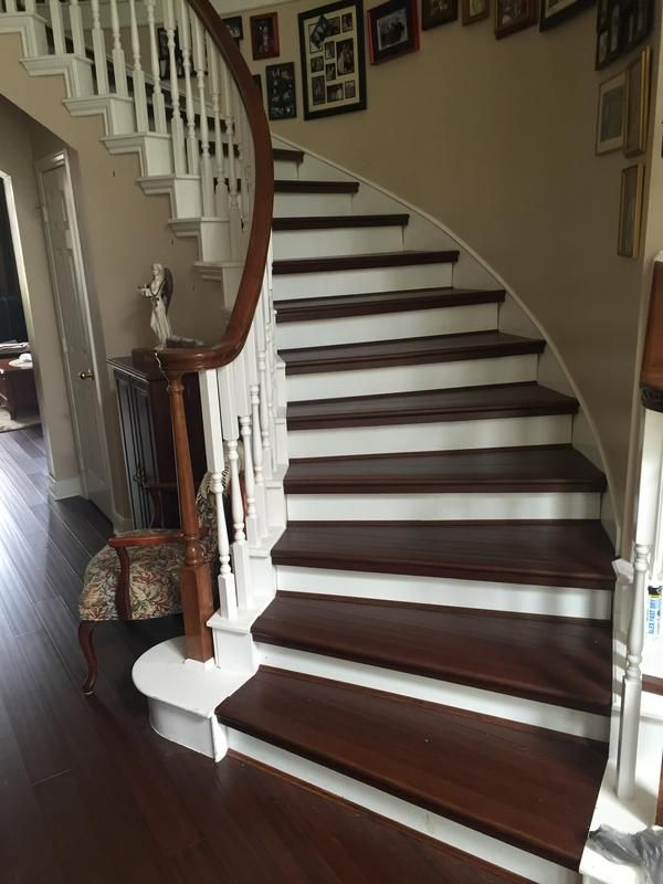 your stairs need love too paul in tx picked antique hazel bamboo