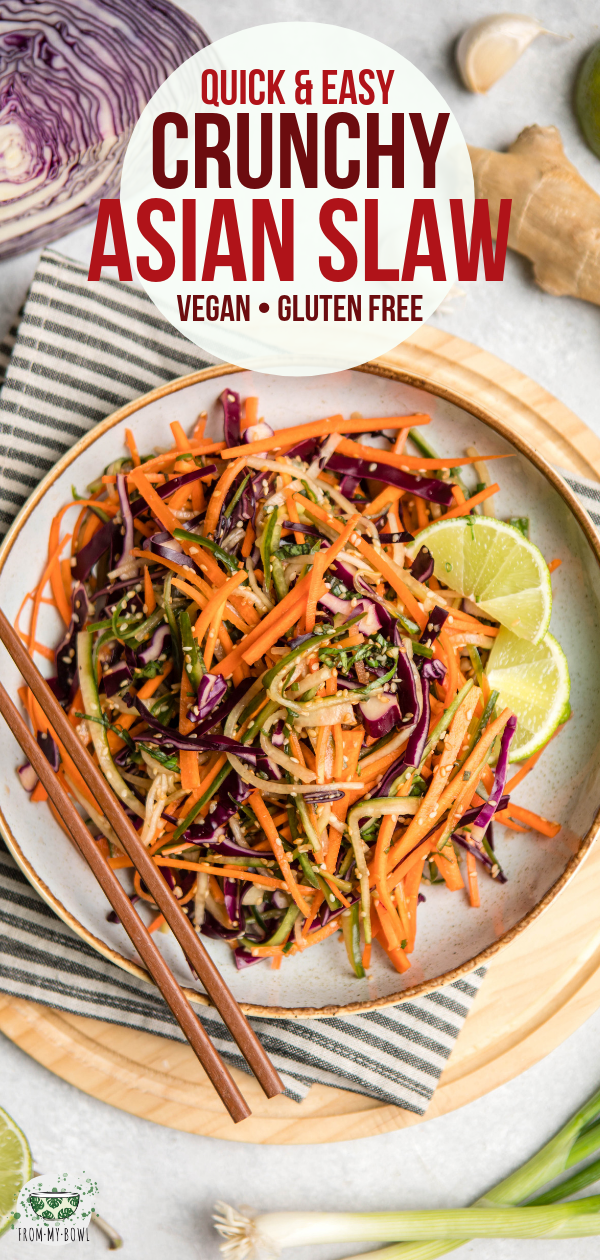 Crunchy Asian Slaw Recipe | Quick & Tasty! – From My Bowl