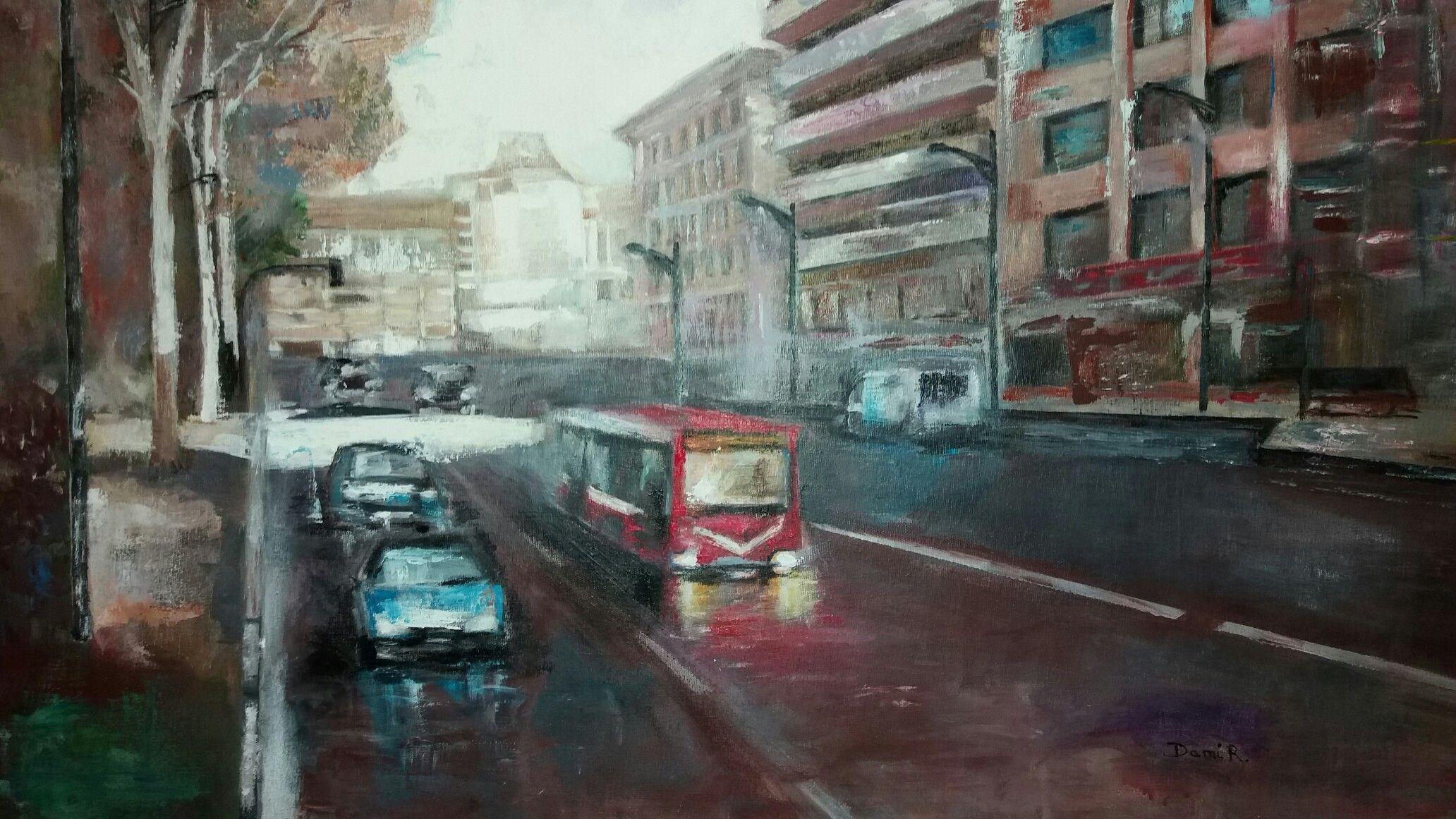 Atardecer en Albacete Pintado por DAMI
