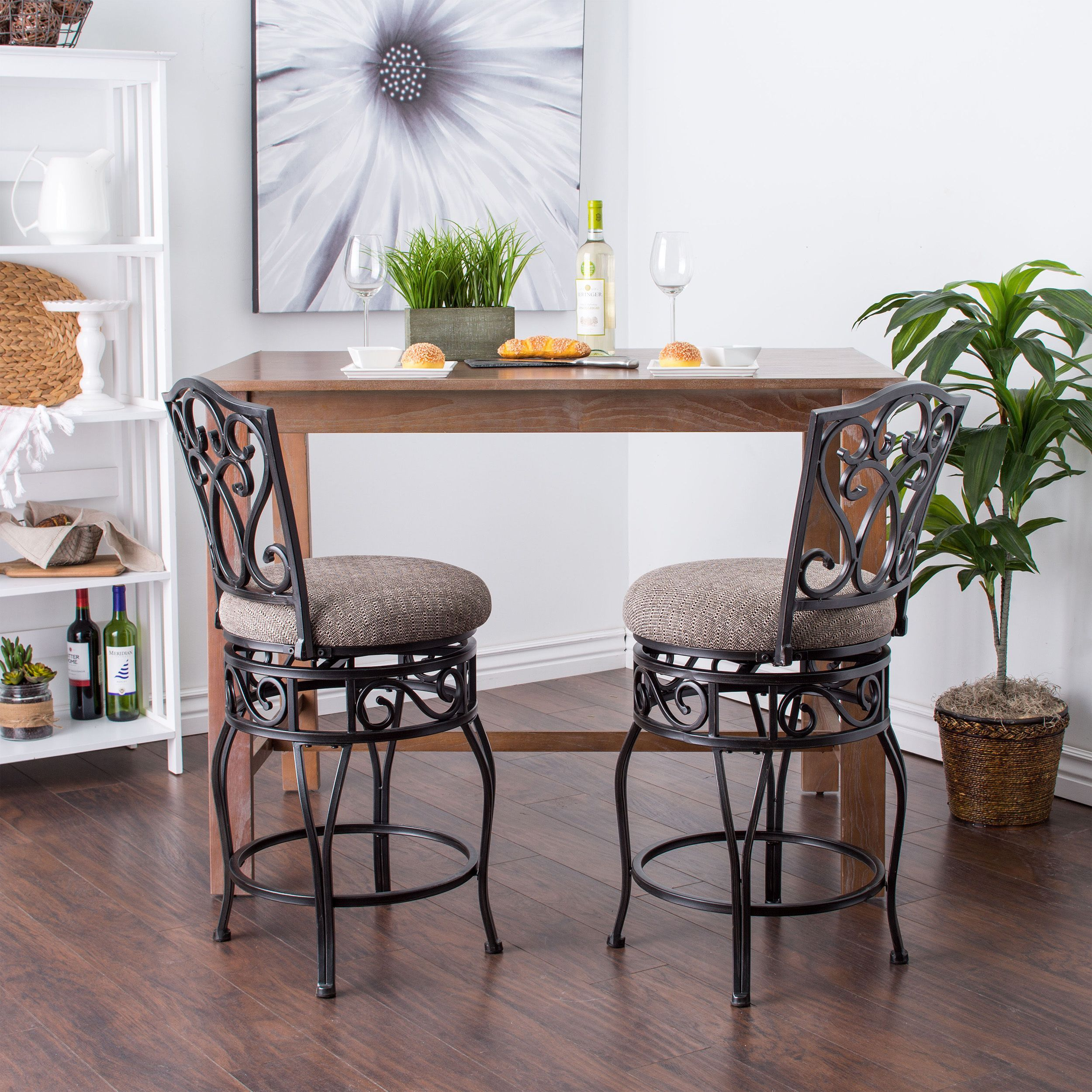 Copper Brown Grove Chase 24 Inch Swivel Counter Stools