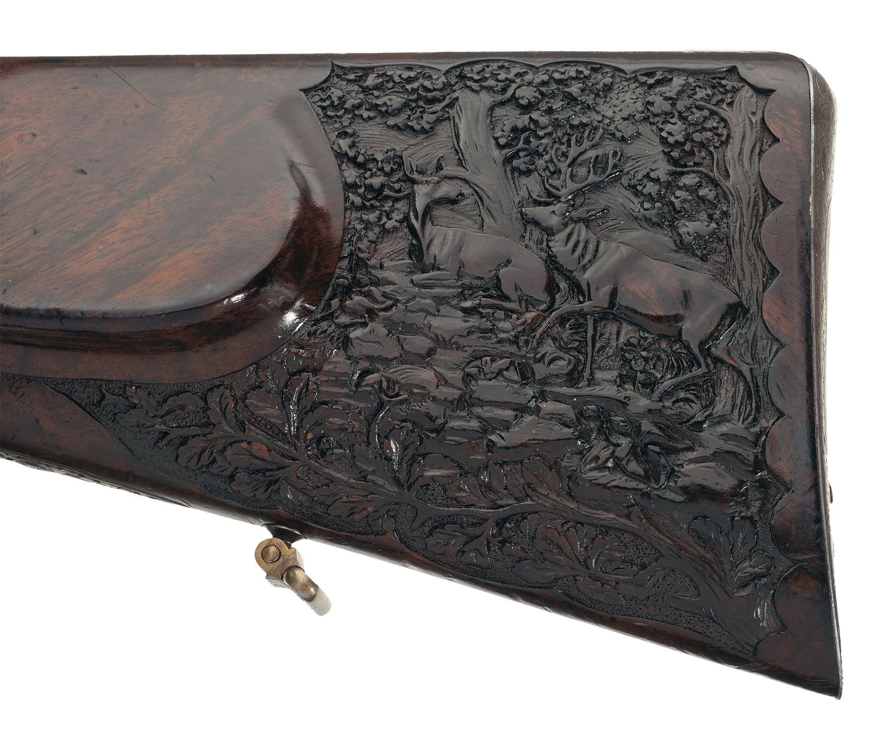 Ornate Deep Relief Engraved Gold Inlaid Barella Double Barrel ...