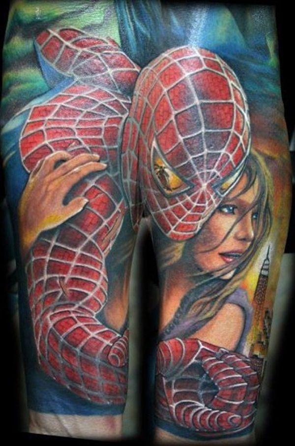 9dd1c9e16 50 Best Free Spiderman Tattoo designs and Ideas | Spider-Man Tatt ...