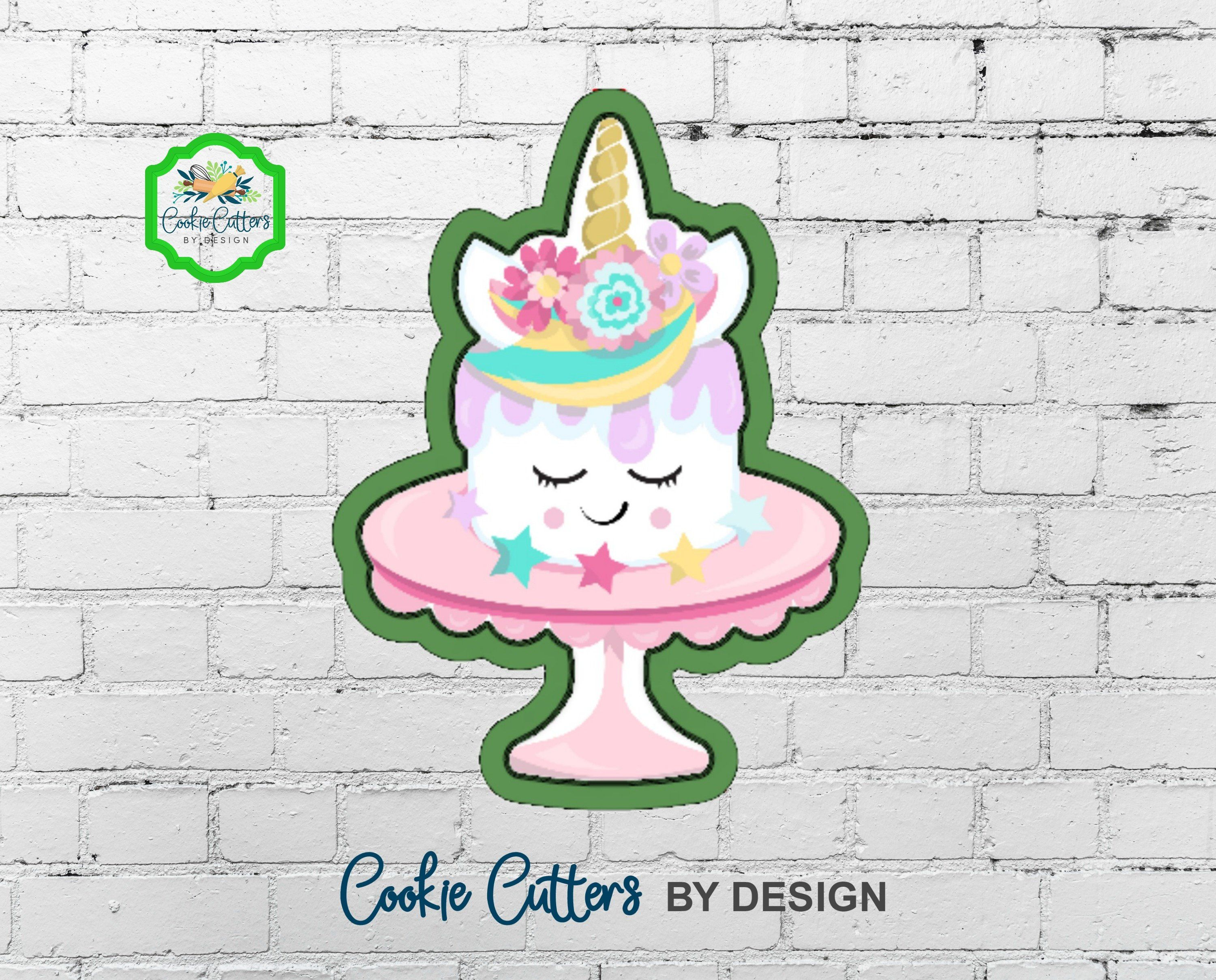 Unicorn Birthday Cake Cookie Cutter By CookieCuttersByDsgn On Etsy