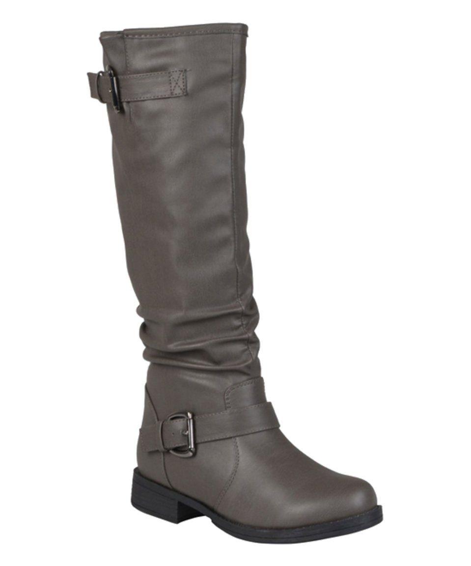 a9865707e7c Bella Cora | Gray Sunny Extra Wide-Calf Boot by Bella Cora #zulily ...