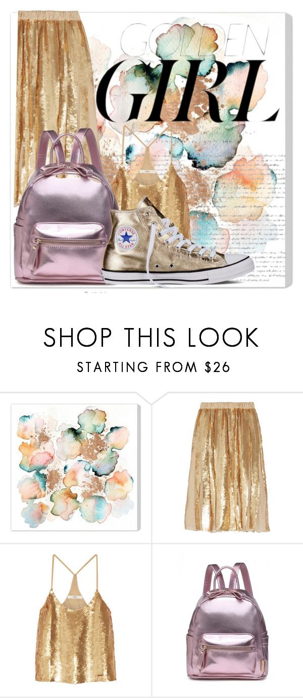 """""""Golden girl"""" by elisapar ❤ liked on Polyvore featuring Murphy, TIBI and Converse"""