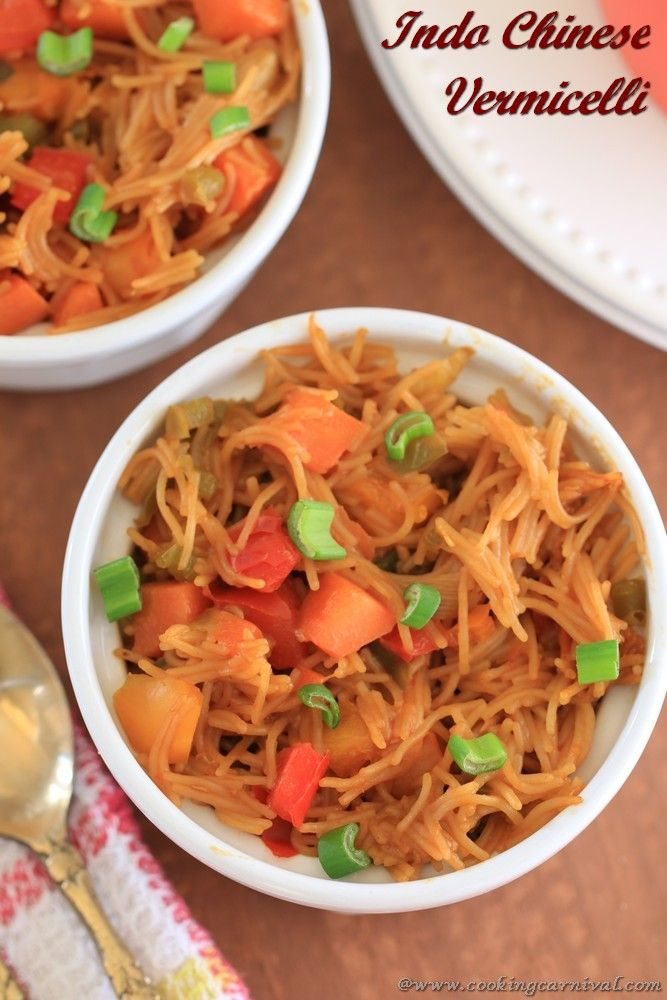 Indo chinese vermicelli recipe chinese semiya upma kids lunch this recipe is healthy tasty and colorful i make this indo chinese vermicelli many indian food recipesall forumfinder Image collections