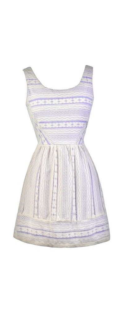 417d98d68bb3 Lily Boutique Purple Peek Ivory Lace Sundress