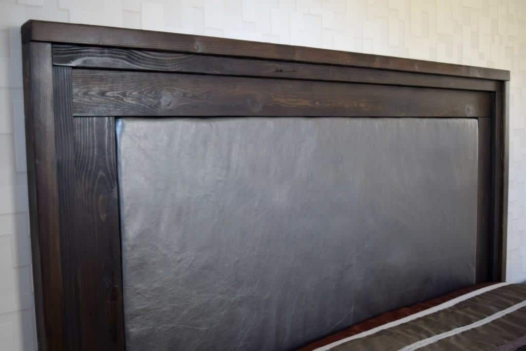 Diy upholstered headboard with wood frame leather