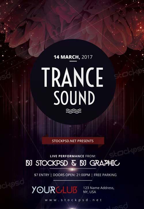 Trance Sound Free Party Flyer Template Httpfreepsdflyer