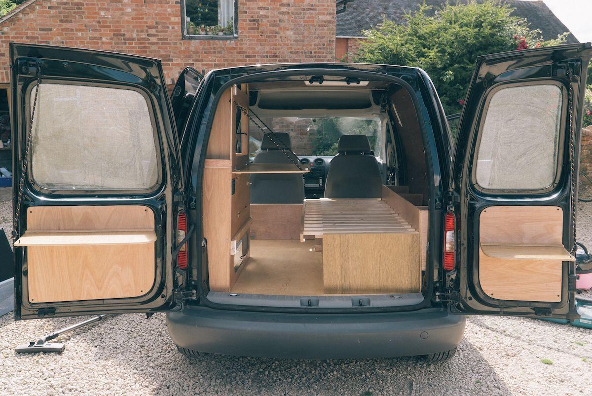 vw caddy camper conversion van life camper van. Black Bedroom Furniture Sets. Home Design Ideas