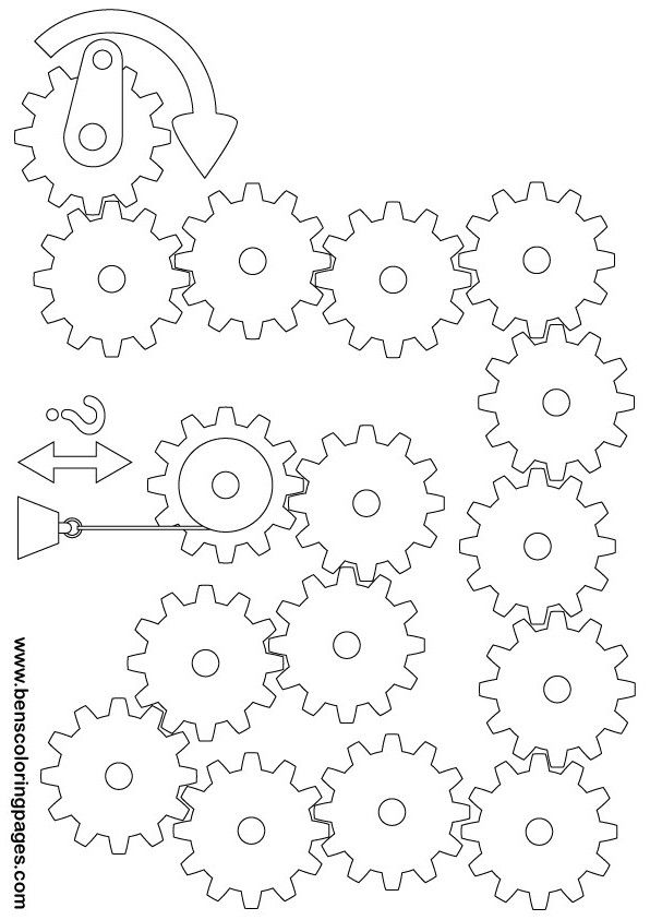 graphic relating to Gears Printable known as Printable gears and pulleys health T.Miller Pulleys